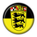 Baden Württemberg button flag round shape Royalty Free Stock Photo