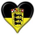 Baden Württemberg button flag heart shape Stock Photography