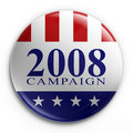 Badge - 2008 election Stock Photography