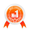 Badge of best choice vector illustration Royalty Free Stock Images