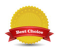 Badge this image is a vector file representing best choice Royalty Free Stock Images