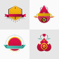 Badge and logo vector design. for coporate, brand, flyer, websit Royalty Free Stock Photo