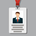 Badge, Pass Card ID in Modern Flat Style Royalty Free Stock Photo