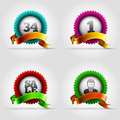 Badge set vector colorful collection elements are layered separately in vector file Stock Image