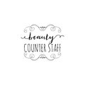 Badge for small businesses - Beauty Salon Counter Staff. Sticker, stamp, logo - for design, hands made. With the use of