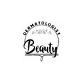 Badge for small businesses - Beauty Salon Dermatologist. Sticker, stamp, logo - for design, hands made. With the use of