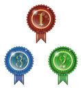 Badge winner ribbon and glossy Stock Images