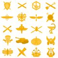 Badges of arms of the Russian Army Royalty Free Stock Photos