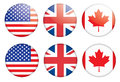Badges with flags Royalty Free Stock Image