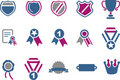Badges Icon Set Royalty Free Stock Photography