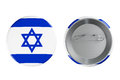 Badges with israel flag on a white background Stock Images