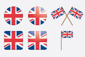 Badges with United Kingdom flag Royalty Free Stock Image
