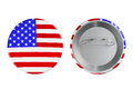Badges with usa flag on a white background Stock Images