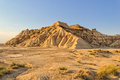 Badlands the bardenas reales is a semi desert natural region or of some hectares in southeast navarre spain Royalty Free Stock Photos