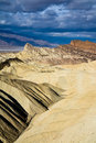 Badlands in Death Valley National Park Stock Image