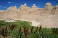 Badlands national park in south dakota Stock Images