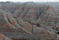 Badlands national park south dakota usa landscape formed by deposition and erosion by wind and water contains some of the richest Stock Images