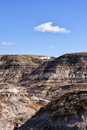 Badlands scenic landscape in drumheller alberta canada Royalty Free Stock Photos