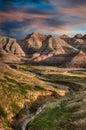 Badlands - South Dakota Royalty Free Stock Photo