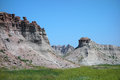 The badlands of south dakota amazing shapes and gentle colors as seen on a visit to Stock Images