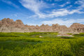 Badlands south dakota beautiful springtime landscape of the in with spring green grass Stock Image