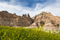 Badlands south dakota beautiful springtime landscape of the in with spring green grass Royalty Free Stock Images
