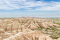 Badlands south dakota beautiful springtime landscape of the in with spring green grass Stock Photo