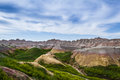 Badlands south dakota beautiful springtime landscape of the in with spring green grass Stock Photography