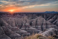 Badlands Sunset Royalty Free Stock Photo