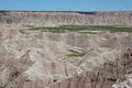 The badlands a view of in south dakota Stock Photo