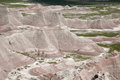 The badlands a view of in south dakota Stock Photos