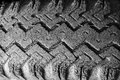 Badly Cracked Tire Tread Stock Photo