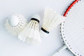 Badminton accessories for exercise and competition Royalty Free Stock Photography