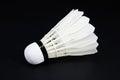 Badminton on a black background Royalty Free Stock Photo