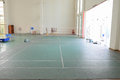 Badminton court interior view of Royalty Free Stock Photography