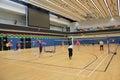 Badminton hall located in hang hau sports centre tseung kwan o hong kong Stock Photography