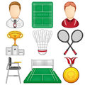 Badminton icon sport vector illustration of a set Royalty Free Stock Images