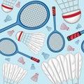 Badminton pattern background - Sport Royalty Free Stock Photo