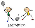 Badminton players Royalty Free Stock Photo