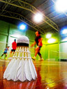 Badminton is a popular sport in asia Stock Photo