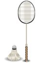 Badminton racket and shuttlecock Stock Photos