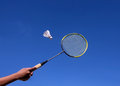 Badminton Racquet Royalty Free Stock Photo