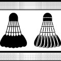 Badminton shuttlecock silhouette and stencil vector illustration Stock Images