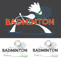 Badminton Sport Game Logo Royalty Free Stock Photo