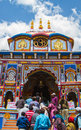 Badrinath temple uttarakhand india circa may hindu pilgrims queue for hours to enter the of in the himalayan state of Stock Image