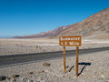 Badwater in death valley california Stock Photo