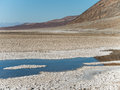 Badwater in death valley california Stock Photography