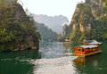 Baefong lake boat trips on baofeng in the wulingyuan scenic area near zhangjiajie hunan province china Stock Photo