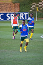 Bafana Bafana in Training Royalty Free Stock Photography