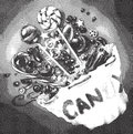 Bag of candy - etching